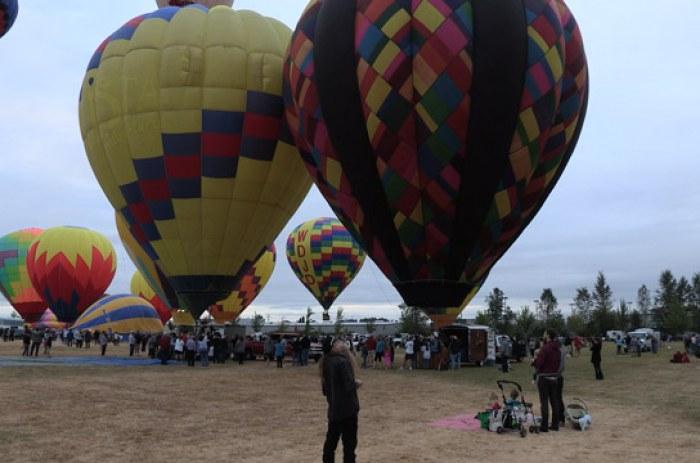 Art Air Festival Balloon Launch Time Lapse